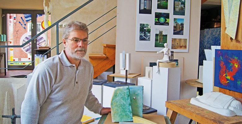 Dominicus Witte in seinem Atelier