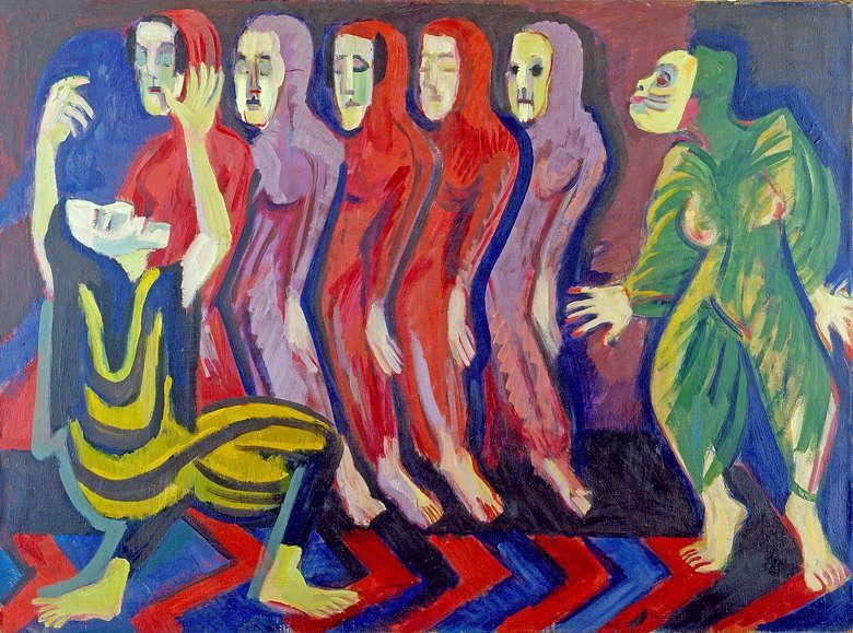Ernst Ludwig Kirchner: Totentanz der Mary Wigman (1926)